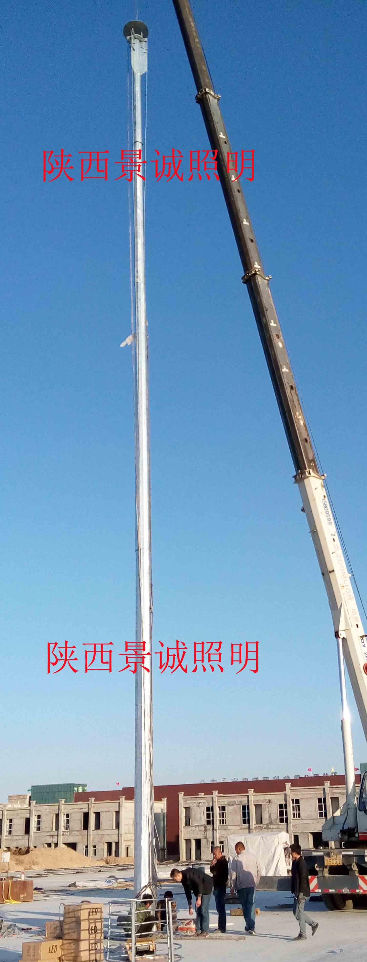 固原物流园25米16火LED高杆灯
